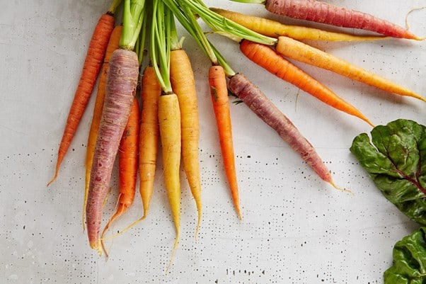 Carrots of different shapes and colors